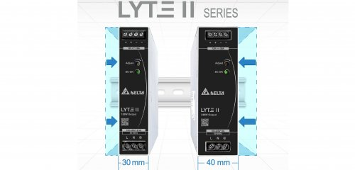 Delta introduces 30% more compact Din-Rail power supply series for 120W and 240W